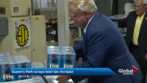 Ontario government scraps beer tax